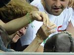 EURO 2012: BALOTELLI GREETS HIS MOTHER