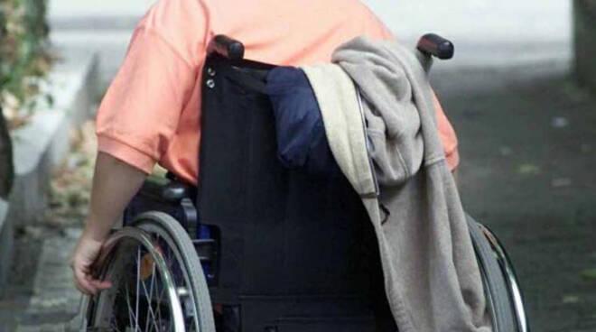 disabile sedia rotelle