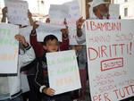 Protesta bimbi rom
