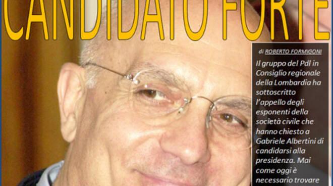 Albertini Candidato Formigoni Lombardia