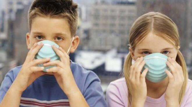 bambini-maschera-inquinamento