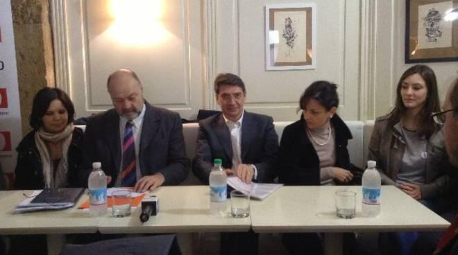 Del Bono e lista Pd amministrative Brescia