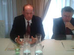 Il presidente di Condifesa Brescia Giacomo Lussignoli con il direttore Fernando Galvan