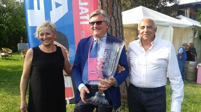 Lorella Lavo, il vincitore Fabio Contato e Luigi Alberti