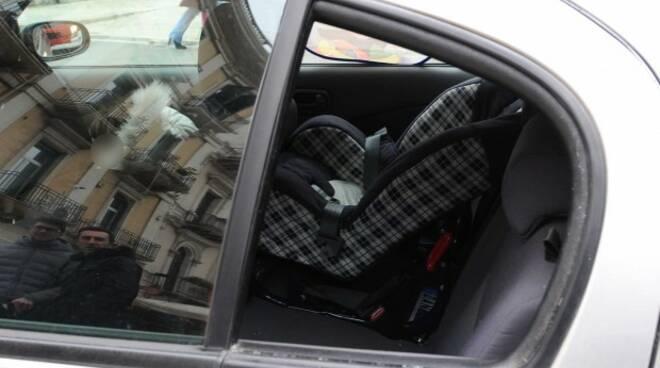auto seggiolino vetro