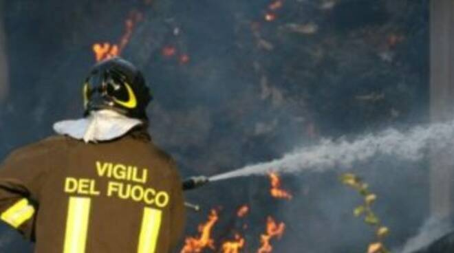 Incendio parco Oglio