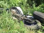 Moto caduta