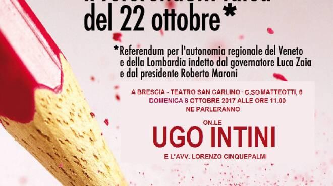 Referendum autonomia: il Psi ne parla con Ugo Intini ...