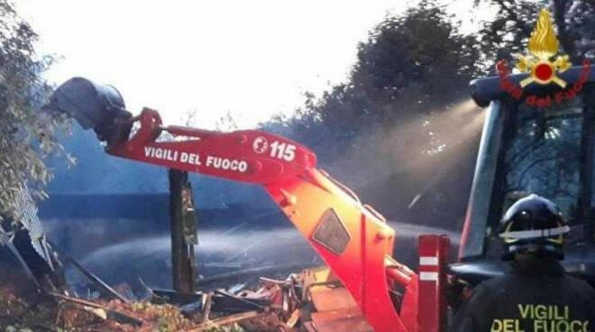 Toscolano-incendio-oliveto