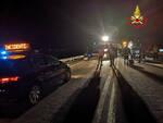 esine scontro auto ss 42 ferito