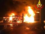 esine incendio cavalcavia ss42 mezzi fiamme