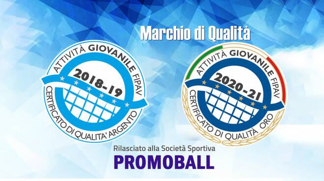 Promoball volley Flero, certificazione qualità d'oro
