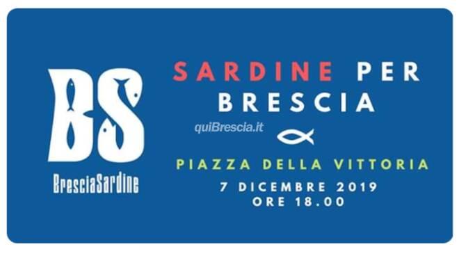 Sardine Brescia sabato 7 dcembre presidio