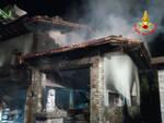 malonno incendio villetta garage bombole gpl