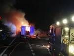 A4 camion fiamme traffico Rovato Palazzolo Milano