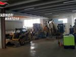 Furto riciclaggio mezzi edili guai bresciano