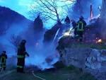 Treviso Bs fuochi ragazzi bruciano rustico ustionato