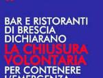Coronavirus bar ristoranti Brescia chiudono Restate casa