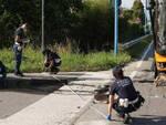 Brescia frontale tra un auto e un bus quattro feriti