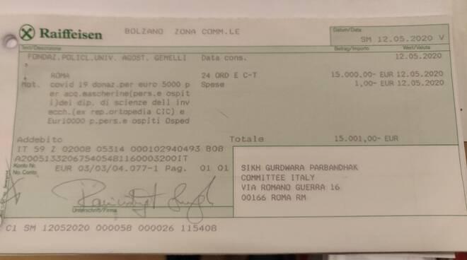 donazione sikh italia