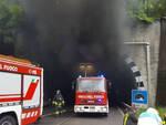 Agnosine frontale e incendio in galleria due uomini feriti