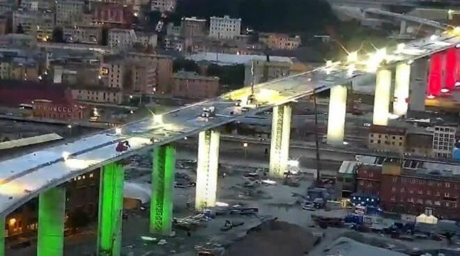 Ponte Genova finito il collaudo 3 agosto apertura con luci bresciane
