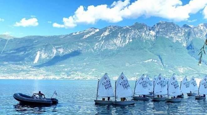 vela optimist a Campione del Garda