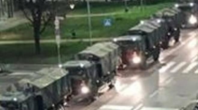 Coronavirus ministro Guerini a Orzinuovi E Del Bono parla dei carri militari