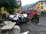 Nave scontro tra auto e camion in sp 237 Feriti madre e figlio