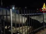 Brescia collassa una cisterna di liquido tossico Arrivano i Vvf