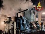 Bagolino fiamme di notte in una casa disabitata Arrivano i Vvf