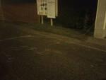 Bassano Bresciano corda di nylon tesa in strada Sfiorato il dramma