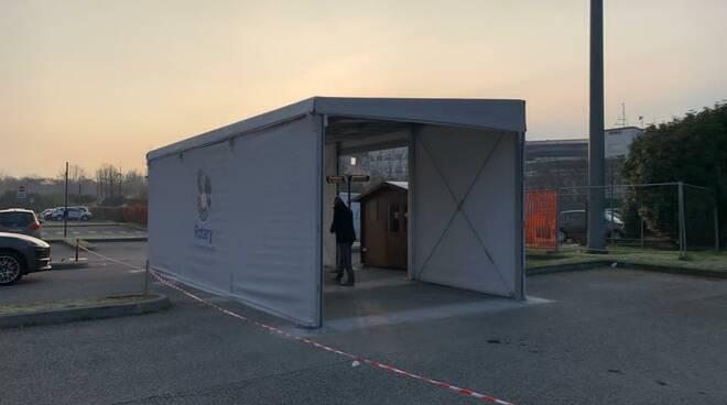 Rotary Club Brescia Manerbio: da oggi è attivo il drive-through per l\'esecuzione dei tamponi presso l\'Ospedale di Manerbio