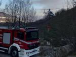 Lodrino rogo boschivo in Valle Duppo In fumo 4 ettari di terreno