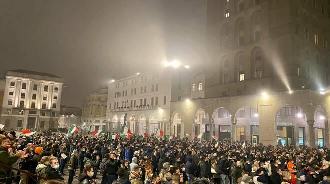 manifestazione su restrizione covid credit Tatiana Basilio