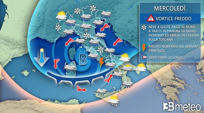 meteo da mercoledì2 dicembre a domenica 7