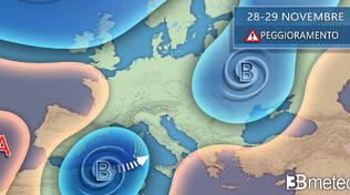meteo dal 23 al 27 novembre