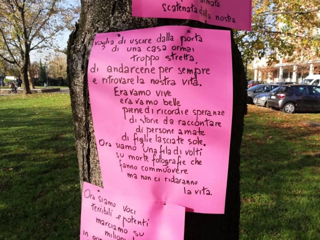 Non una di meno Brescia, azione simbolica contro la violenza sulle donne