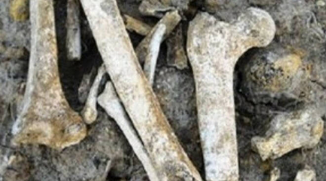 Pisogne dal cantiere di una palazzina spunta uno scheletro