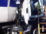 Tamponamento tra due camion in A4 57enne bresciano è grave