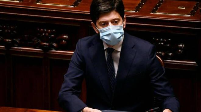 Misure del dpcm di Natale e vaccino anti Covid ministro Speranza in Parlamento