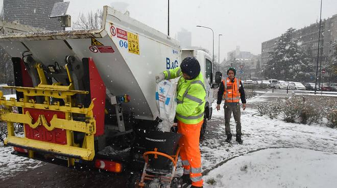 neve brescia mezzi spalaneve