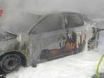 Ospitaletto auto in fiamme in via San Bernardo Arrivano i vigili del fuoco