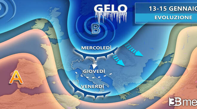 meteo 13-15 gennaio