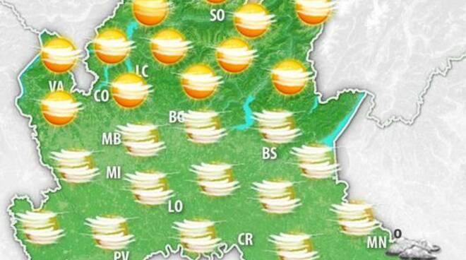 meteo  lombardia 10 gennaio