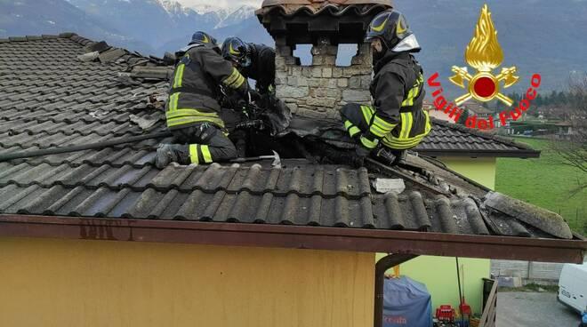 artogne incendio sottotetto