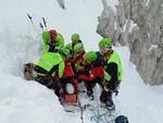 Esercitazione sul lago Lova del soccorso alpino