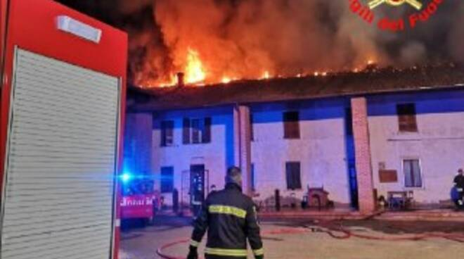 incendio in cascina a verolanuova
