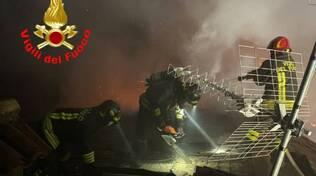 incendio in via Gabriele Rosa a Lograto