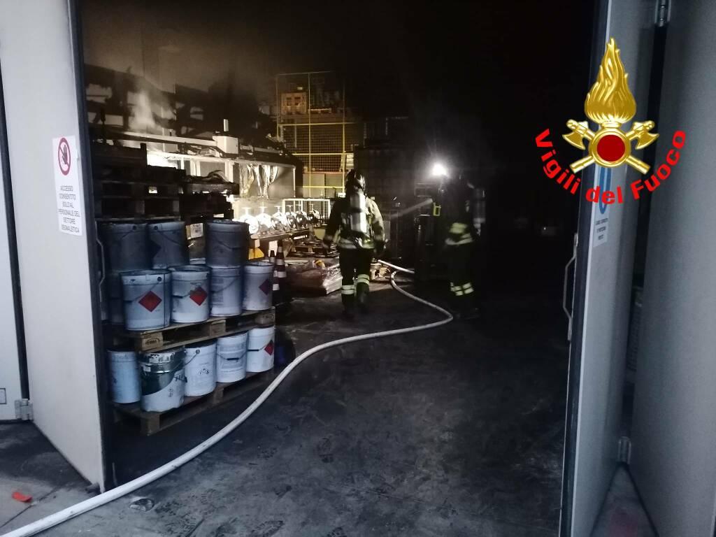 fiamme azienda metalmeccanica ospitaletto